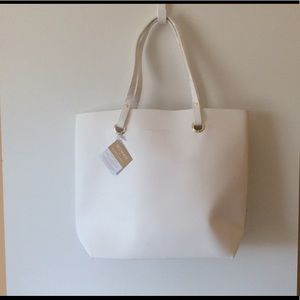 NWT Ralph Lauren White Tote Bag